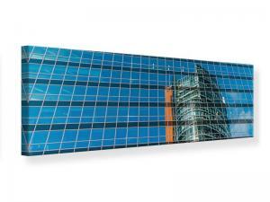 Ljudabsorberande panorama tavla - Skyscraper Mirror - SilentSwede