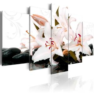 Ljuddämpande tavla - Zen stones and lilies - SilentSwede