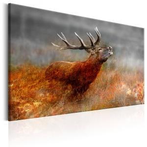 Ljuddämpande & ljudabsorberande tavla - Roaring Deer - SilentSwede