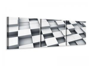 Ljudabsorberande 3 delad tavla-3D Cube - SilentSwede