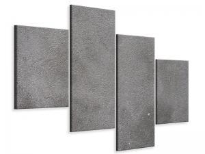 Ljudabsorberande modern 4 delad tavla - Concrete In Dark Grey - SilentSwede