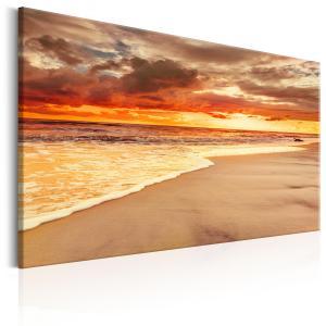 Ljuddämpande & ljudabsorberande tavla - Beach: Beatiful Sunset II - SilentSwede