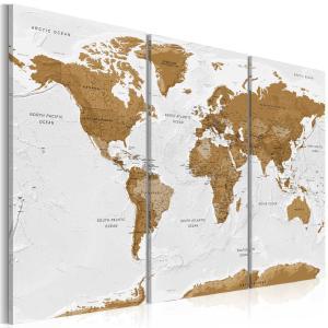 Ljuddämpande tavla - World Map: White Poetry - SilentSwede