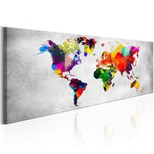 Ljuddämpande tavla - World Map: Coloured Revolution - SilentSwede