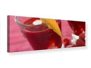 Ljudabsorberande panorama tavla - Raspberry Cocktail - SilentSwede