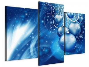 Ljudabsorberande modern 3 delad tavla - Shingle Bells - SilentSwede