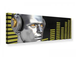 Ljudabsorberande panorama tavla - Futuristic DJ - SilentSwede