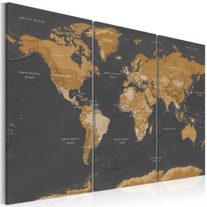 Ljuddämpande tavla - World Map: Modern Aesthetics - SilentSwede