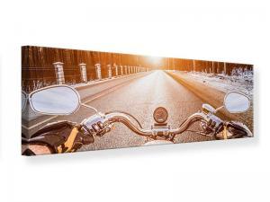 Ljudabsorberande panorama tavla - On A Motorcycle - SilentSwede