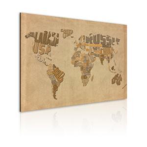 Ljuddämpande & ljudabsorberande tavla - Gamla världskarta - SilentSwede