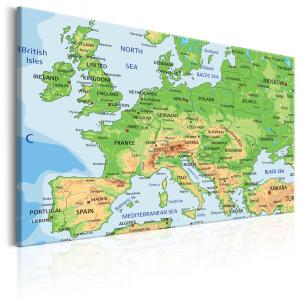 Ljuddämpande & ljudabsorberande tavla - Map of Europe - SilentSwede