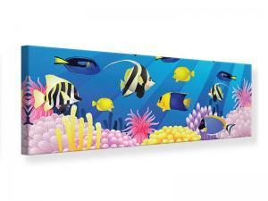 Ljudabsorberande panorama tavla - Children`s Underwater World - SilentSwede