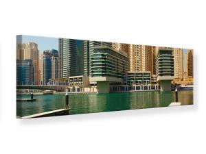 Ljudabsorberande panorama tavla - Spectacular Skyscraper Dubai - SilentSwede
