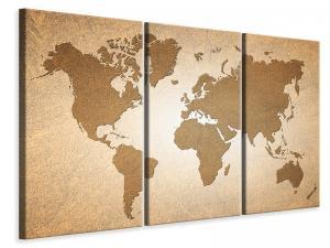 Ljuddämpande tavla - Map Of The World In Vintage - SilentSwede
