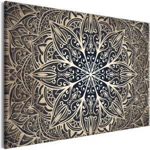 Ljuddämpande tavla - Oriental Flowers Brown - SilentSwede