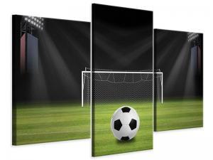 Ljudabsorberande modern 3 delad tavla - Soccer-Goal - SilentSwede