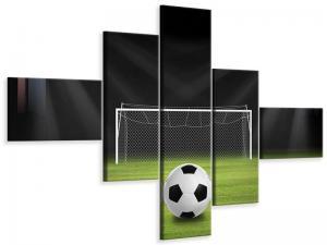 Ljudabsorberande modern 5 delad tavla - Soccer-Goal - SilentSwede