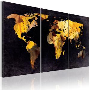 Ljuddämpande tavla - Världskartan - kvicksand - SilentSwede
