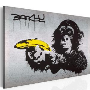 Ljuddämpande & ljudabsorberande tavla - Stoppa eller apan skjuter! (Banksy) - SilentSwede