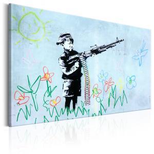 Ljuddämpande & ljudabsorberande tavla - Boy with Gun by Banksy - SilentSwede