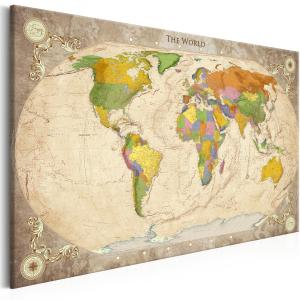 Ljuddämpande & ljudabsorberande tavla - Map and Ornaments - SilentSwede