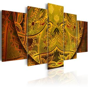 Ljuddämpande tavla - Mandala: Golden Power - SilentSwede