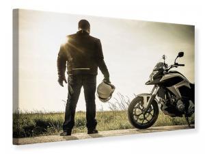 Ljudabsorberande tavla - Biker At Dusk - SilentSwede