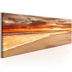 Ljuddämpande & ljudabsorberande tavla - Beach: Beatiful Sunset - SilentSwede