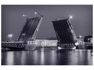 Ljudabsorberande tavla - Bascule Bridge At Night - SilentSwede