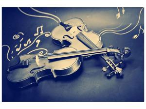 Ljudabsorberande tavla - Violins - SilentSwede