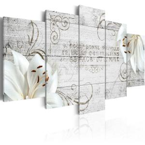 Ljuddämpande tavla - White lilies on wood - SilentSwede