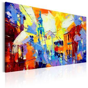 Ljuddämpande & ljudabsorberande tavla - Colours of the City - SilentSwede