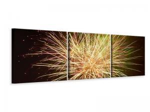 Ljudabsorberande 3 delad tavla-Fireworks XXL - SilentSwede