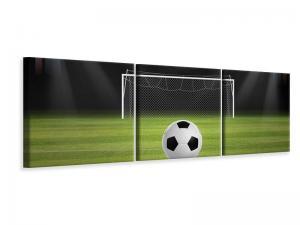 Ljudabsorberande panorama 3 delad tavla - Soccer-Goal - SilentSwede