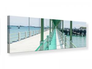 Ljudabsorberande panorama tavla - The Bridge On The Sea - SilentSwede