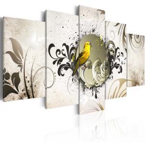 Ljuddämpande tavla - Yellow bird - SilentSwede
