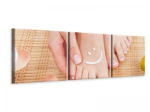 Ljudabsorberande 3 delad tavla-Beautiful Feet - SilentSwede