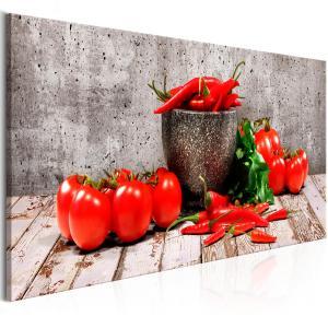 Ljuddämpande & ljudabsorberande tavla - Red Vegetables Concrete - SilentSwede