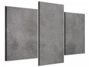 Ljudabsorberande modern 3 delad tavla - Concrete In Dark Grey - SilentSwede