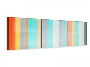 Ljudabsorberande panorama 3 delad tavla - Grunge Stripes - SilentSwede