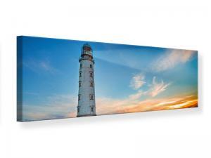 Ljudabsorberande panorama tavla - Sunset At The Lighthouse - SilentSwede