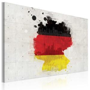 Ljuddämpande & ljudabsorberande tavla - Karta över Tyskland - SilentSwede