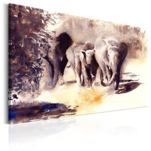 Ljuddämpande tavla - Watercolour Elephants - SilentSwede