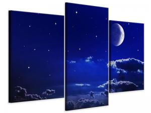 Ljudabsorberande modern 3 delad tavla - The Night Sky - SilentSwede