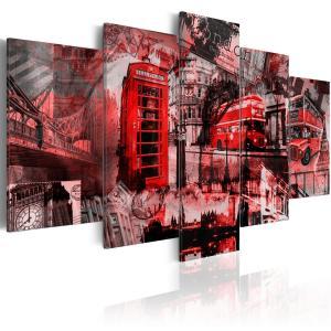 Ljuddämpande tavla - London collage - SilentSwede