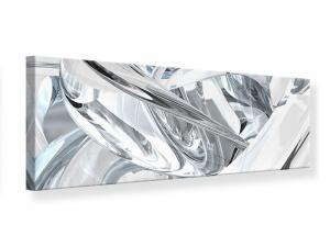 Ljudabsorberande panorama tavla - Abstract Glass Webs - SilentSwede