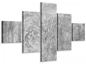Ljudabsorberande 5 delad tavla-Wipe Technique In Gray - SilentSwede