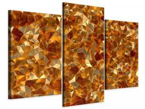 Ljudabsorberande 3 delad tavla-3D-Ambers - SilentSwede