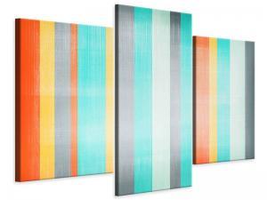 Ljudabsorberande modern 3 delad tavla - Grunge Stripes - SilentSwede