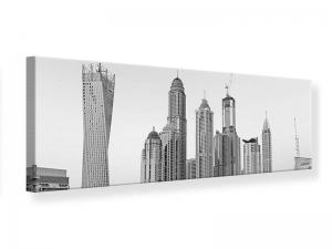 Ljudabsorberande panorama tavla - Majestic Skyscrapers In Dubai - SilentSwede
